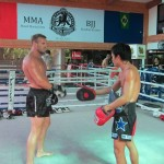 Nathan Corbett at Fairtex gym in Pattaya, Thailand.