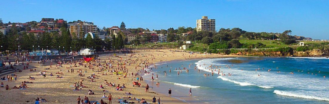 Busy Chaotic Coogee Beach Sydney Australis Bikini Babes